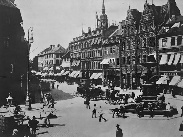 Amagertorv omkring 1900