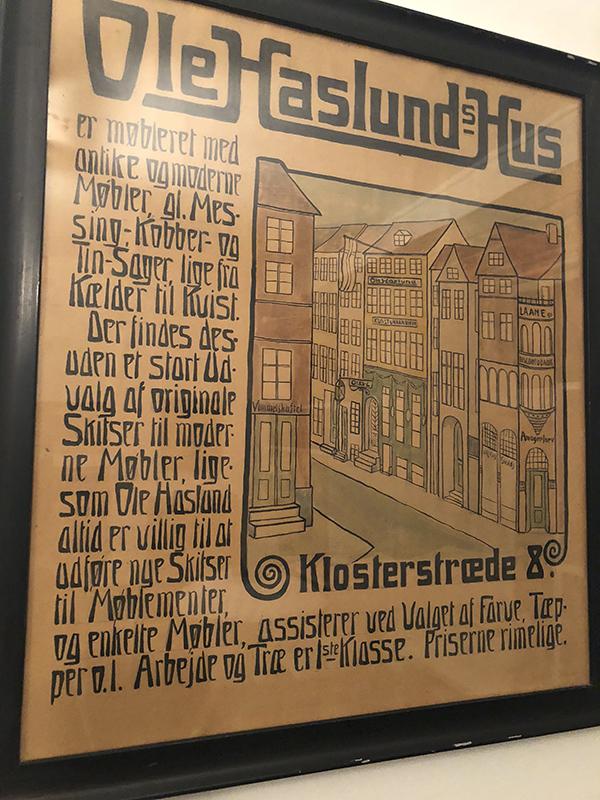 Plakat for Klosterstræde 8 - Ole Haslunds Hus