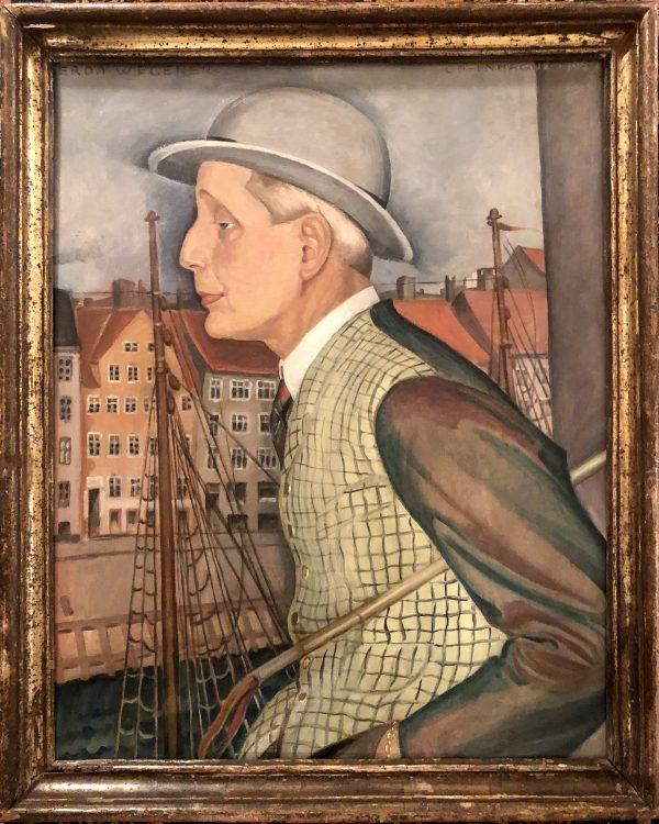 Ole Haslund, 1927, malet af Karen Wegener