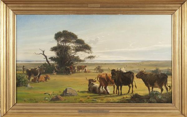Køer på en eng. Carl Otto Haslund 1872. Sveriges Nationalmuseum. Foto: Per-Åke Persson