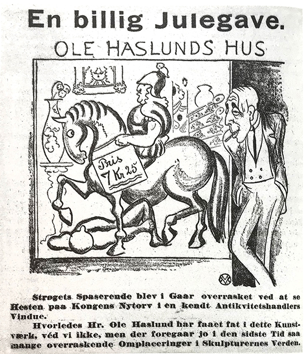 Satire i Politiken 1920. Af Valdemar Møller